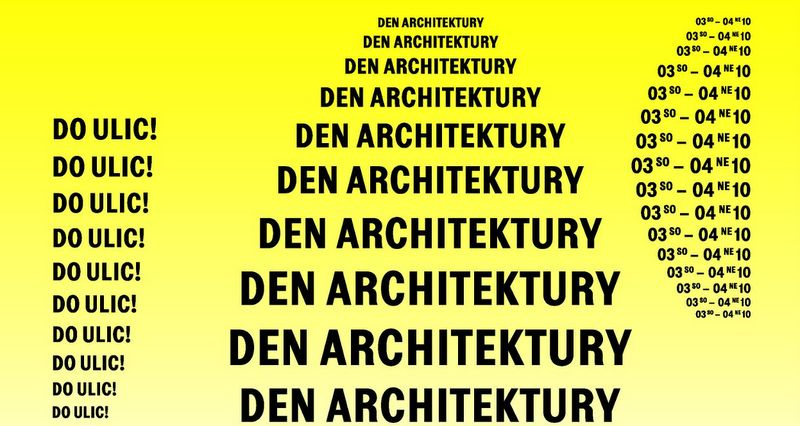 Logo celorepublikového Dne architektury